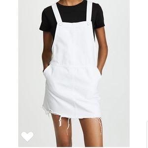 BLANKNYC White Mini Overall Dress
